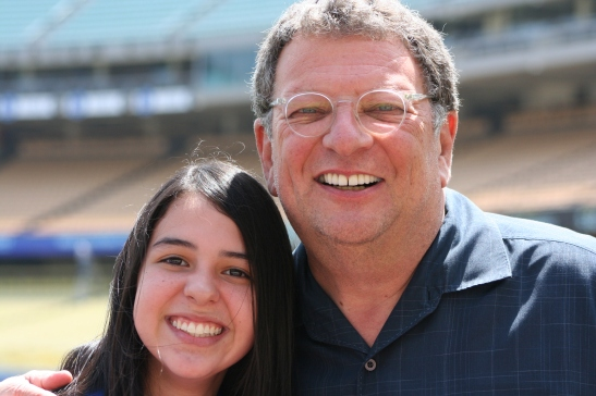 Skyler said Charley Steiner, the Dodger's play by play announcer, offered her many helpful broadcasting tips.