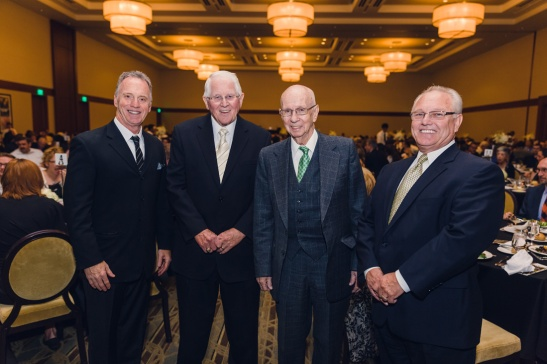Pictured from L to R: Bo Gutzwiller, Paul Kienel, founder of ACSI, Leonard Soper, former FCS principal, Jerry Haddock, former FCS principal.