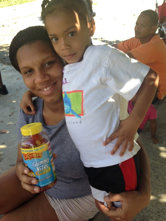 Jenn Burris sent vitamins to this pregnant mother that she met in November on the last DR trip.